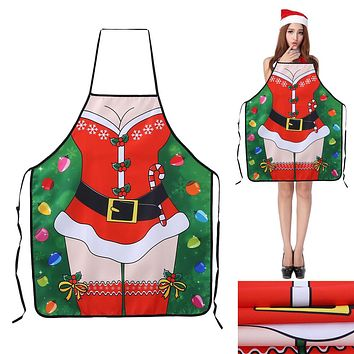 New Christmas Ladies Men Sexy Aprons Christmas