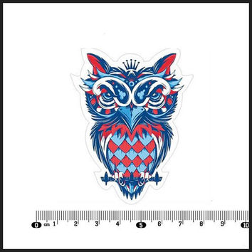 Min.order is 10 (mix order )Exclusive Sales Crown owl White background Waterproof Notebook Car Styling Laptop Stickers[Single]