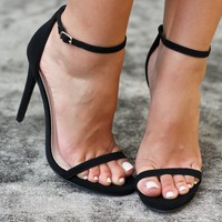 Black Heels with Ankle Strap