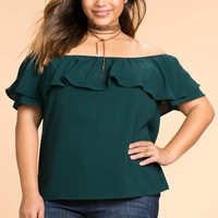 Connie Ruffle Off Shoulder Top