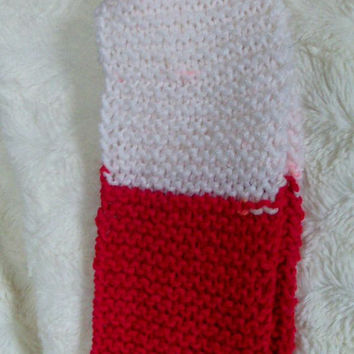 Team Spirit Scarf- Red and White