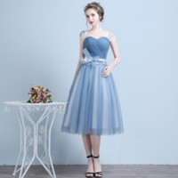 New dress short bride wedding bridesmaid dress wedding dress high - end banquet evening dress
