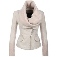 Eleven Paris Teather Leather Jacket Cream