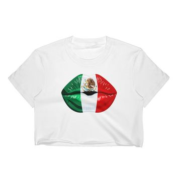 Mexico Flag Women's Crop Top / Mexican Flag / Mexico t shirts