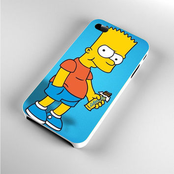 Bart Simpsons Eat Chocolate iPhone 4s Case