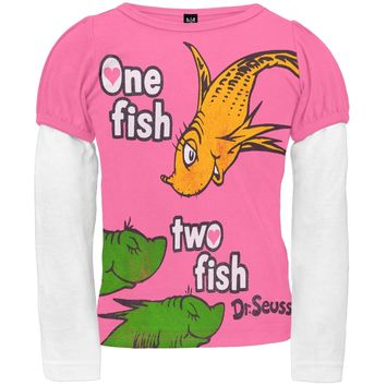Dr. Seuss - One Fish Two Fish Pink Toddler 2Fer T-Shirt