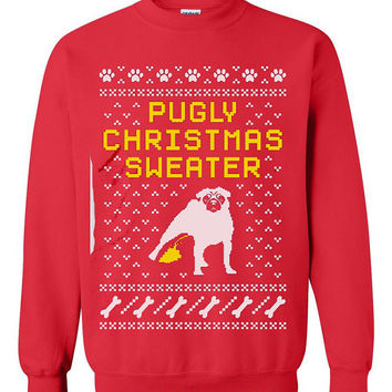 Pug Ugly Christmas Sweater sweatshirt Unisex Adults