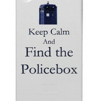 Keep calm and Find the PoliceBox iPhone 4 Case by Caffrin25