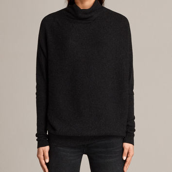 ALLSAINTS US: Womens Ridley Sweater (Cinder Black Marl)