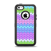 The Bright-Colored Knit Pattern Apple iPhone 5c Otterbox Defender Case Skin Set