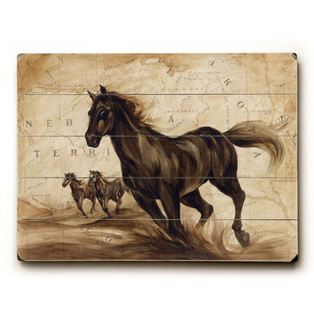 Black Beauty by Artist Elizabeth Hope Wood Sign