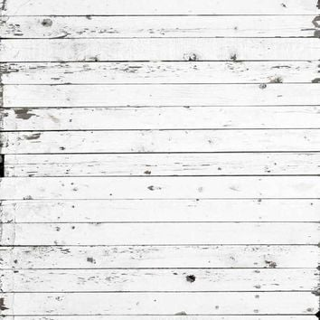 White Planks Wood Platinum Cloth Backdrop 8x8 - LCPC1936 - LAST CALL