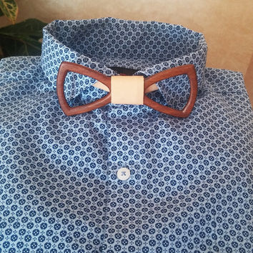 SALE! Wooden Bow Tie + Pocket Square - Wood Bow Tie / Wood Bowtie - Boys Bowtie / Wooden Bowtie - Mens Bow Tie / Hand Made - Personal Gift