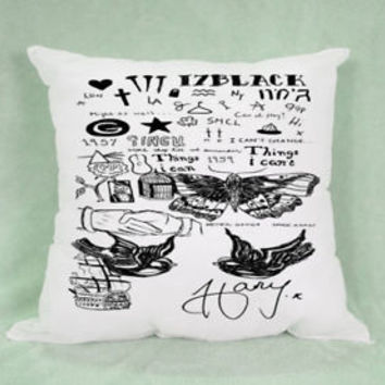 Harry Styles 1D Tattoo High Quality Pillow Case Cushion 16 18 20 2 Side Cover