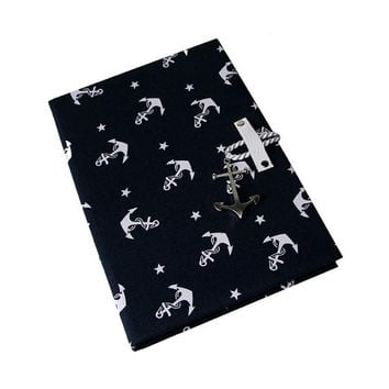 iPad Case 2 3 4 5 Mini Hard Case iPad Cover, iPad Sleeve, i Pad stand up iPad mini hard case Navy Anchor Camera Hole Leather