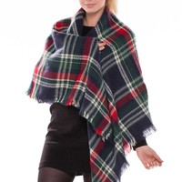 Plaid blanket scarf-id.36138