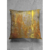 Golden square pillow
