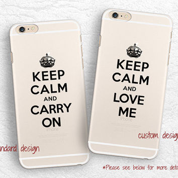 Keep Calm and Carry On transparent phone case for iPhone 6, iPhone 5s, LG G3, Sony z3 Z4, HTC One m8, nexus 6, Samsung S6 clear phone cover