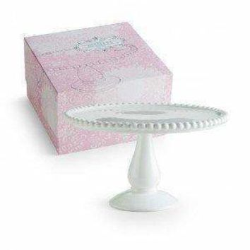 Les Desserts Pedestal Round Beaded Cake Stand in Gift Box 82634