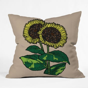 Romi Vega Sunflowers Throw Pillow