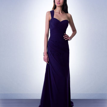 Bill Levkoff Long Chiffon Bridesmaid Dress 981