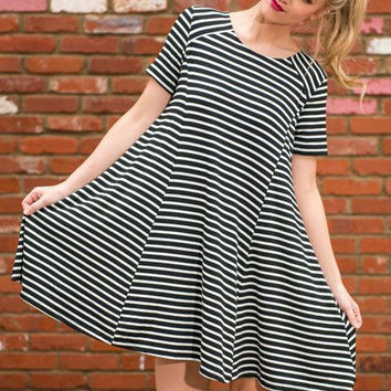 Creative Summer Stripes One Piece Dress [4918718212]