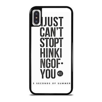 5 SECONDS OF SUMMER 6 5SOS iPhone X Case Cover