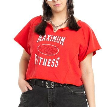 Vintage 80's Maximum Effort Crop Top - One Size Fits Many