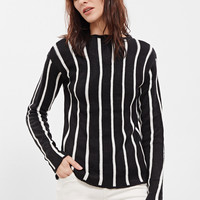 Black Striped Slim Fit Sweater