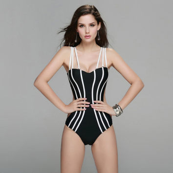New Summer Sexy Style One Piece Swimsuit For Women Plus Size Push Up Strapless Swimwear Brazilian Bandage Beachwear -0401