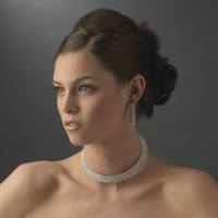 Choker and Earring Jewelry Set Wedding Accessories