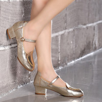 Round Toe Dancing Shoes in Multicolor