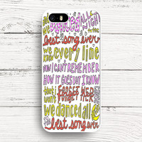 Best Song Ever Lyrics 1D iPhone 5 5s 5c 4s 6s Cases, Samsung case, iPod case, HTC, LG, Nexus, Xperia, iPad Case