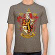 Harry potter Gryffindor team shield Adult Tee T-shirt by Three Second