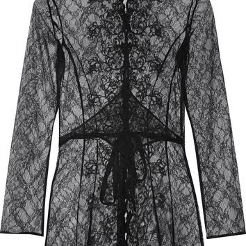 Agent Provocateur - Laretta embroidered lace robe