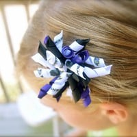 Baltimore Ravens Football Hair Bow Clip Corker