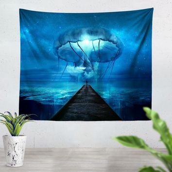 Giant Jellyfish Tapestry
