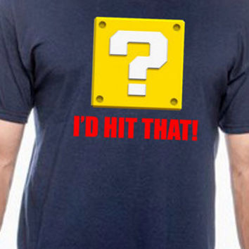 I'd Hit That Super Mario Bros. Video Game Humor T-Shirt