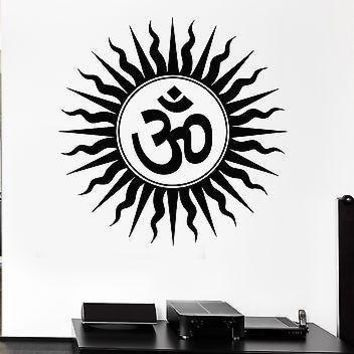 Wall Stickers Om Hindu Religious India Sanskrit Symbol Vinyl Decal Unique Gift (ig1559)
