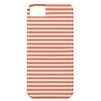 Tangerine Tango And White Stripes iPhone 5 Cases