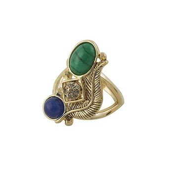 House of Harlow 1960 Jewelry Arremon Feather Ring