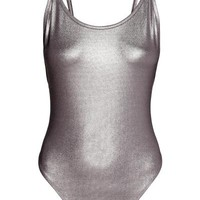 Metallic body - Dark grey/Metallic - Ladies | H&M GB
