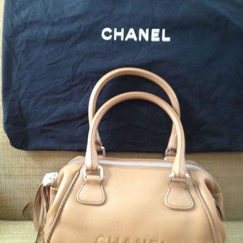 New Chanel Bag Handbag Beige Camel Runway Sac Leather Christmas Gift Unique - Beauty Ticks