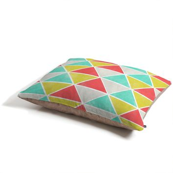 Allyson Johnson Summer Triangles Pet Bed