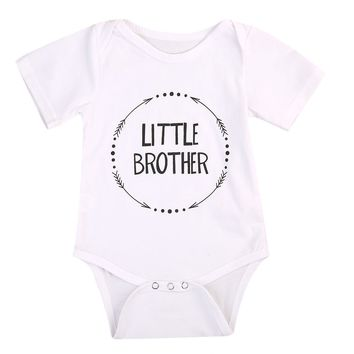 Family Matching Outfits Little Brother Baby Boys Bodysuit Big Boy T-shirt Tops 2017 Hot Sales Matching Outfits