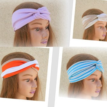 Turban Headband Hair Turban Head Scarf Accessories Hair Headband Stretch Twisted Turban Headband - By PIYOYOa