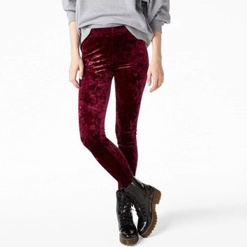 f7302083bcd Women Crushed Velvet Legging High Elastic Waist Velvet Legging m