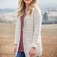 Feel Your Love Cardigan, Ivory