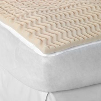 Sleep Zone 5-Zone Egg Crate Foam Mattress Topper