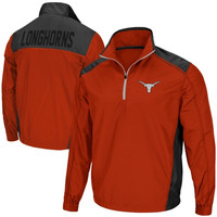 Texas Longhorns Raptor Half Zip Jacket - Burnt Orange